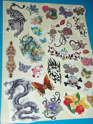 Stick-On-with-Water Tattoos -for Teens & Adults (*takes seconds to