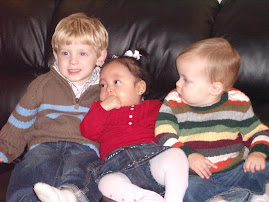 Mazzi with her cousins, Vance and Noah