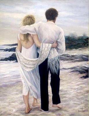 abrazados mar