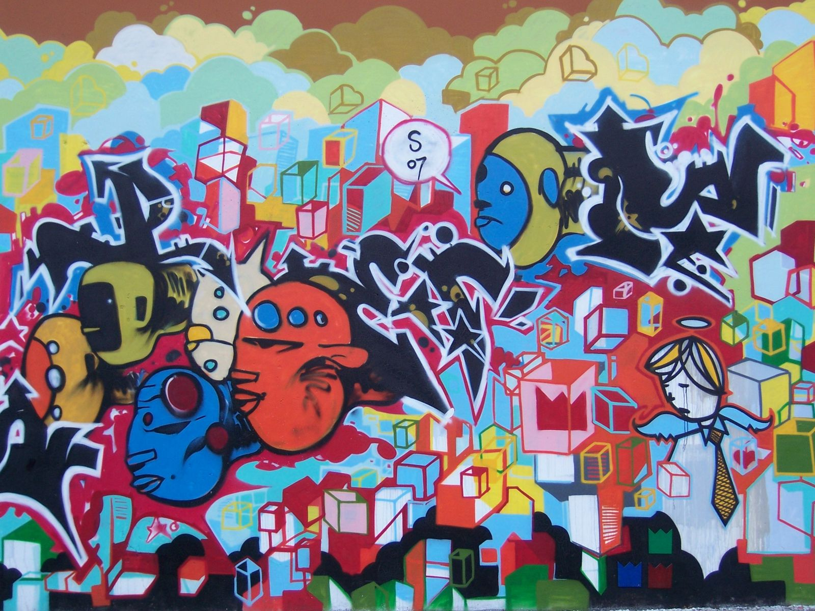 Graffiti tattoo artists seattle for Graffiti mural