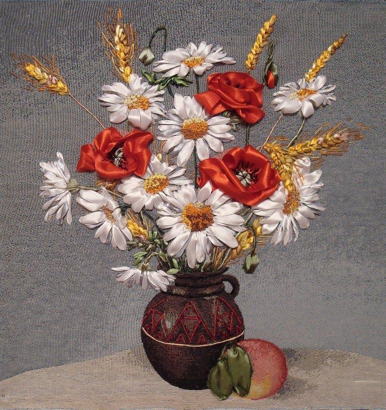 Arzunun Hobileri: Gelincik çiçekli kurdele nakışları...