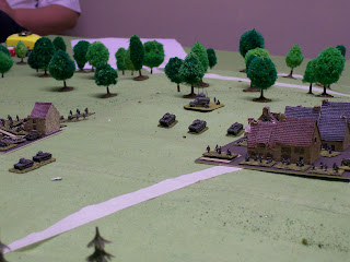 Central villages of Stonne looking East. With German reinforcements in the rear.