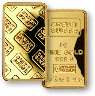 Credit Suisse 1 Gram Gold Bar - Copyright © 2009 Northwest Territorial Mint