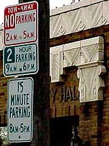 Contradictory and confusing parking restrictions on signs