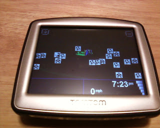 TomTom One 130 GPS Map Screen