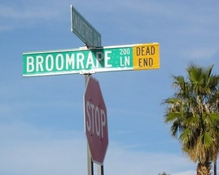 Broomrape Lane sign