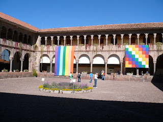the courtyard of the Coricancha