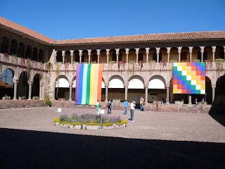 the courtyard of the Coricancha