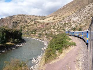 Andean Explorer with Vilacanota river