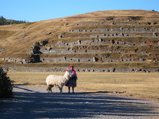 Woman with Alpaca at Saqsayhuaman