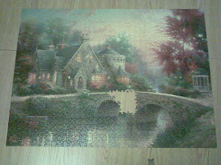 Jigsaw puzzle 95% complete