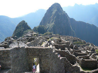Entrance to city of Machu Picchu