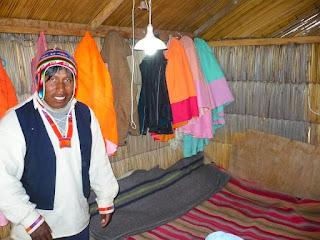 House of island chief on Uros island