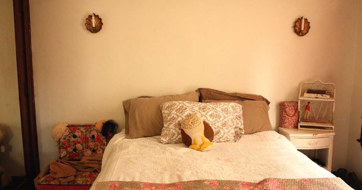 Teacup vintage diy trompe l 39 oeil headboard - Trompe loeil hoofd bed ...
