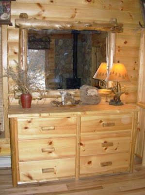 Drawer Dresser With Cedar Overlay Corner Mirror