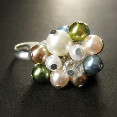 Elegant Cluster Ring - OOAK - An Evening Out