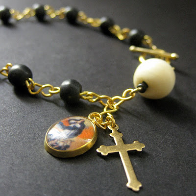 Rosary Bracelet in Bone - Sacred Vow