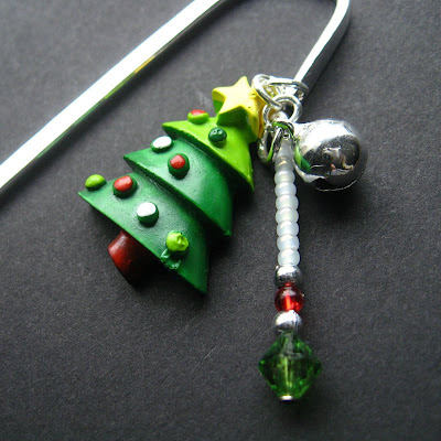 Oh Christmas Tree Beaded Bookmark