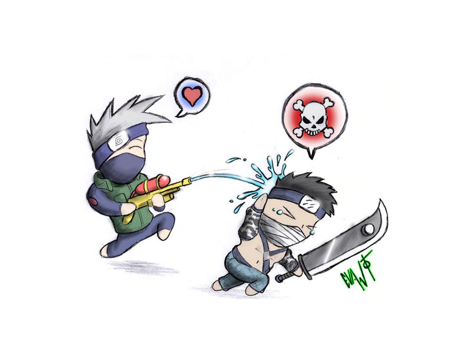 Kakashi VS Zabuza Chibi Fight