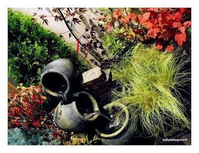 garden fountain photo
