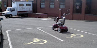 photo of scooter in accessible parking