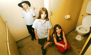 pic of grumpy schoolchildren