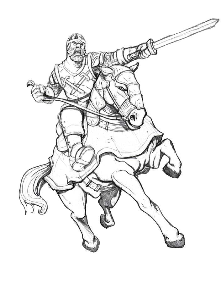 Line Drawing Knight : Gastonbros battlelore code of chivalry art