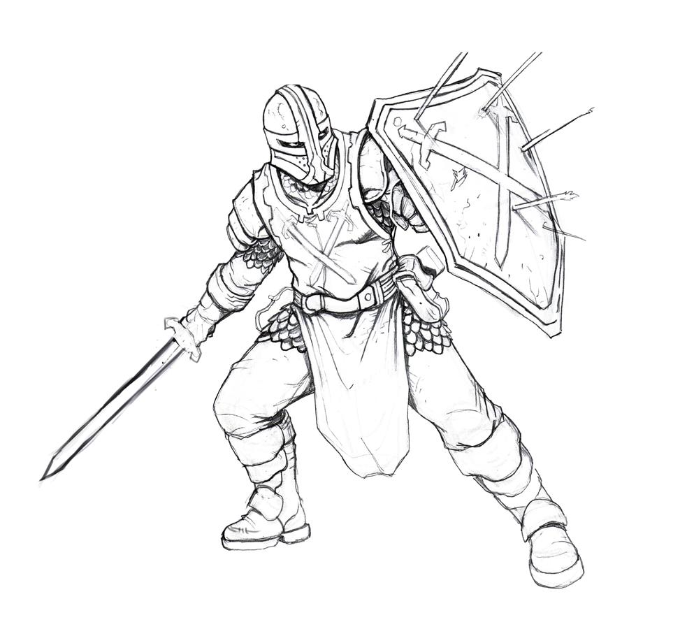 Line Drawing Knight : Gastonbros october