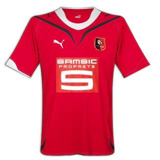Les maillots du Stade Rennais Manchesterpuma