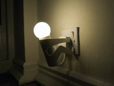 Creative light bulb holder :  home decor bulb design