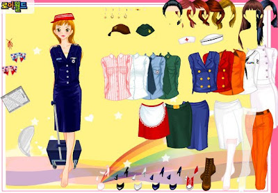 Juego de vestir a la azafata Barbie