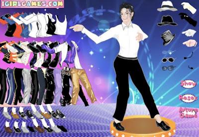 Juego para vestir a Michael Jackson