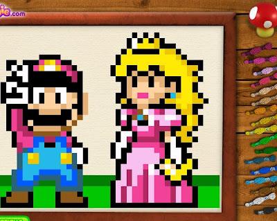 Juego de coser con Mario