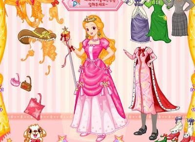 Juego para vestir a Barbie Actriz Princesa