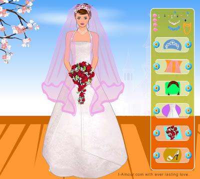 Juego para vestir a la novia bella