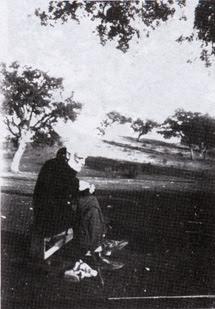 Francisco Giner de los Ríos en el Monte de El Pardo