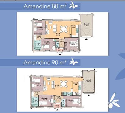 Les maisons de manon amandine de 80 120 m for Les maisons de manon prix