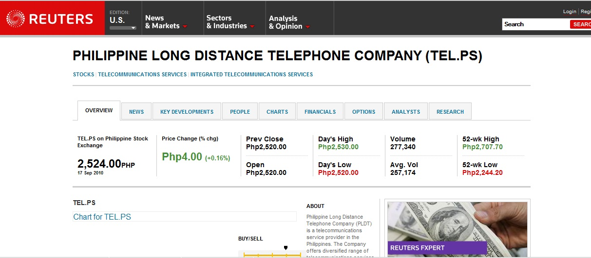 Reuters Might Help You In Your Pse Stock Research And Analysis