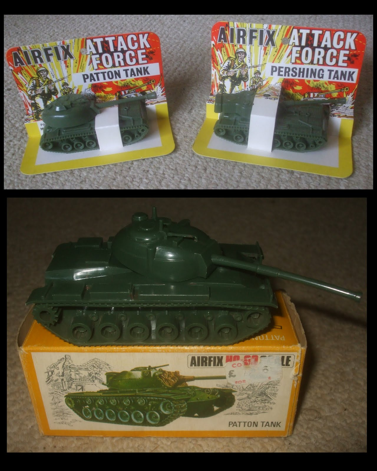 P is for Patton & Pershing by Airfix and Jimson