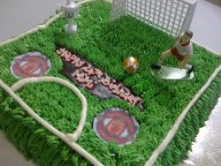 Football field Birthday Cake