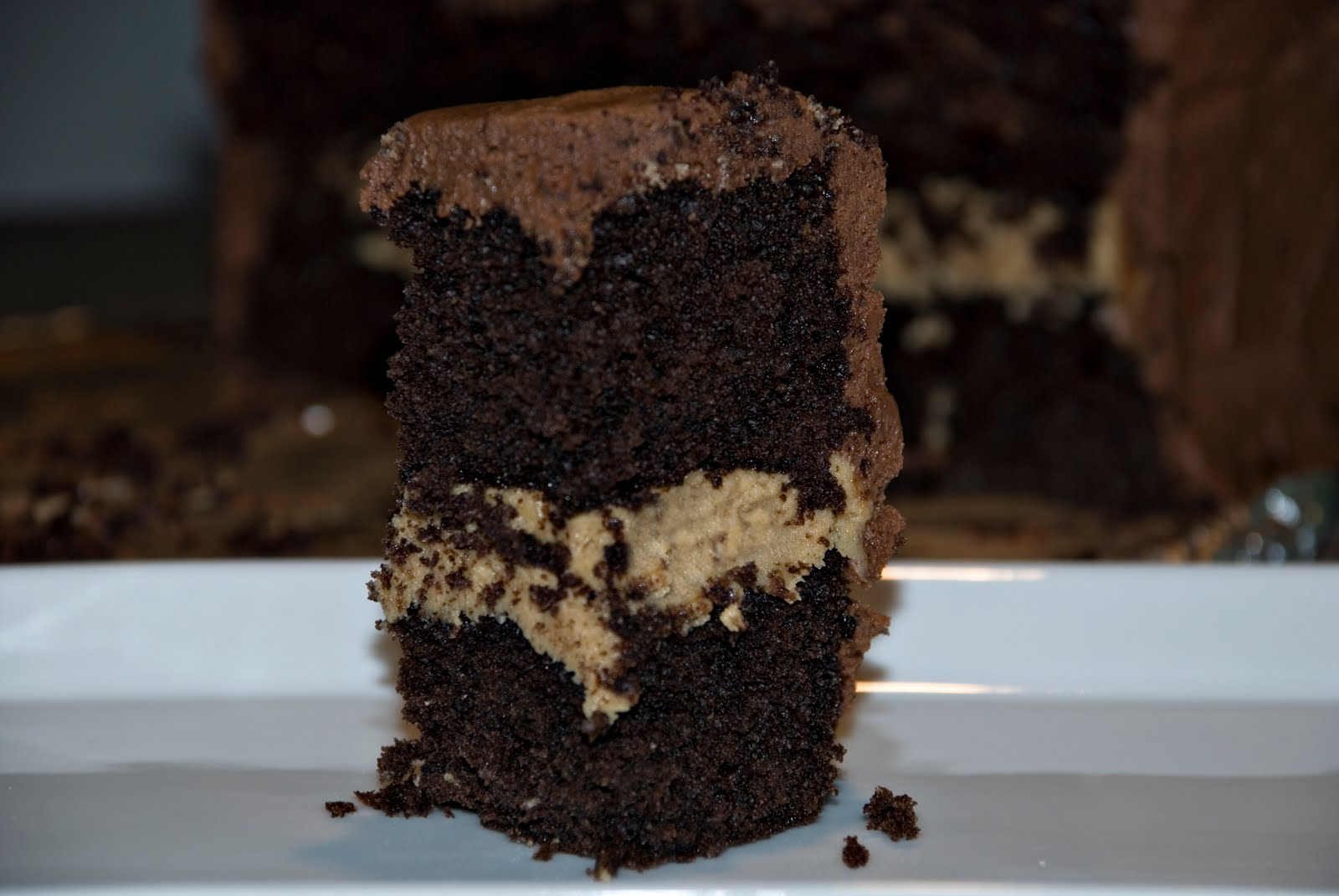 Making Lemonade: Chocolate Cake with Peanut Butter Filling