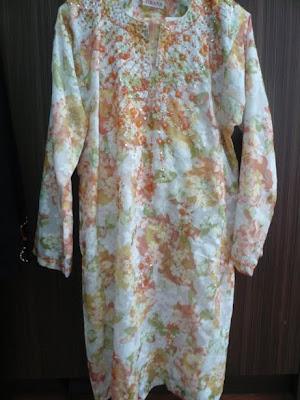 Ini contoh baju yang dah siap dari kain English Cotton