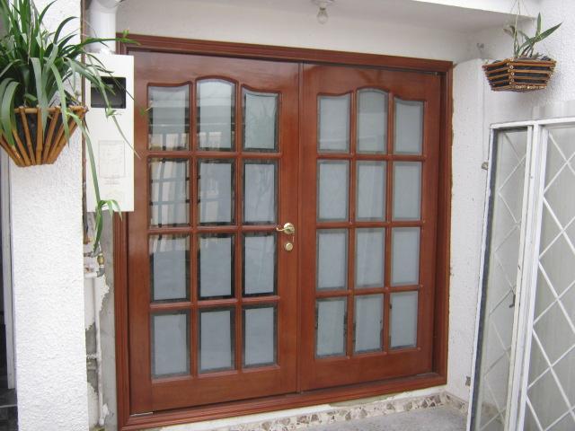 Muebles traso puertas vidrio biselado for Disenos de puertas en madera y vidrio