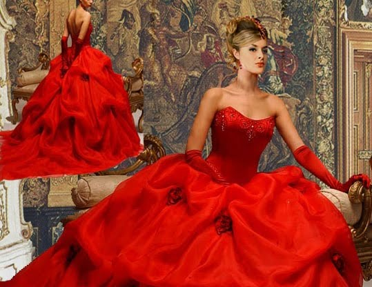 Wedding gallery red wedding dresses 2011 for Pics of red wedding dresses