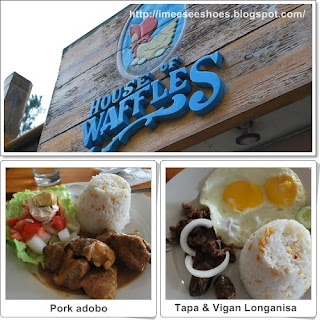 house of waffles, pork adobo, tapa,  longganisa