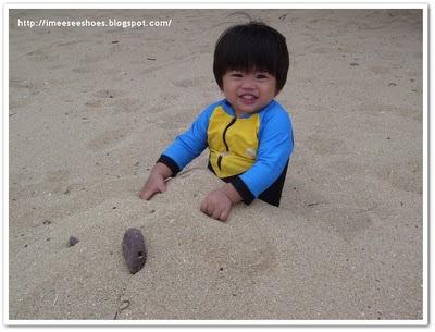 kid, white, sand
