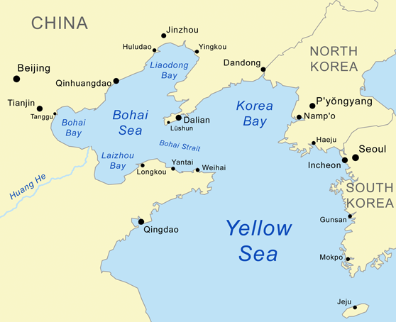 My Dad the U.S. China Marine: Map of the Bohai Sea
