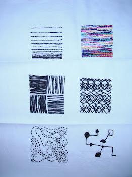 Line into stitch