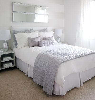 Love of interiors grey and white bedroom for Grey and white bedroom designs