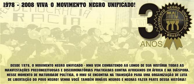 MOVIMENTO NEGRO UNIFICADO - MNU
